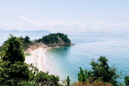 Scenic beach of Naoshima Island, Seto Inland Sea, Japan