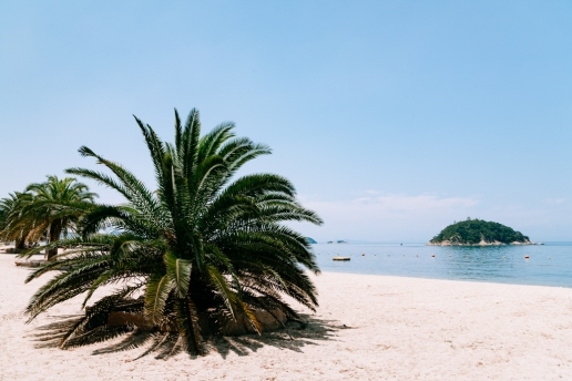 Beautiful beaches of Shodoshima Island, Seto Inland Sea, Kagawa, Japan