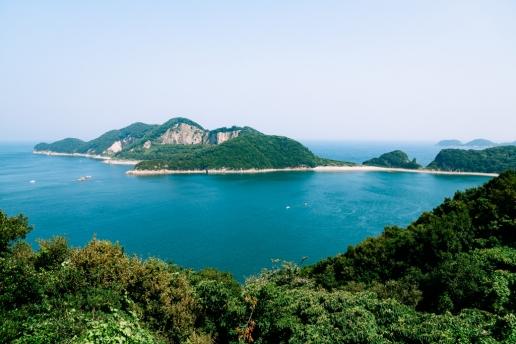 Scenic landscape of Shodoshima Island, Seto Inland Sea, Kagawa, Japan