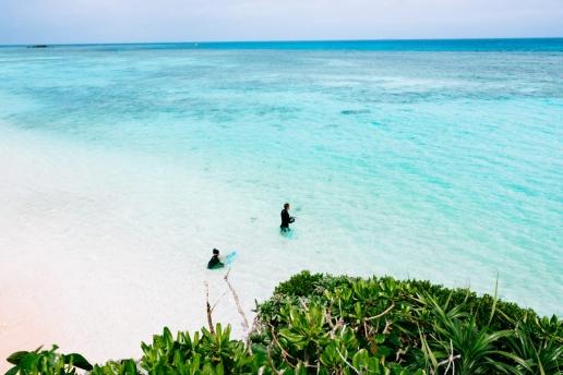 Off-the-beach coral snorkeling, Hateruma Island, Yaeyama, Japan