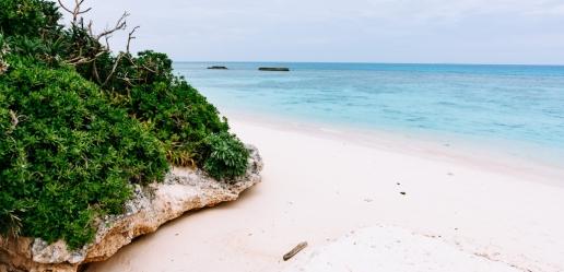 Cloudy but still inviting turquoise water of Okinawa, Hateruma Island