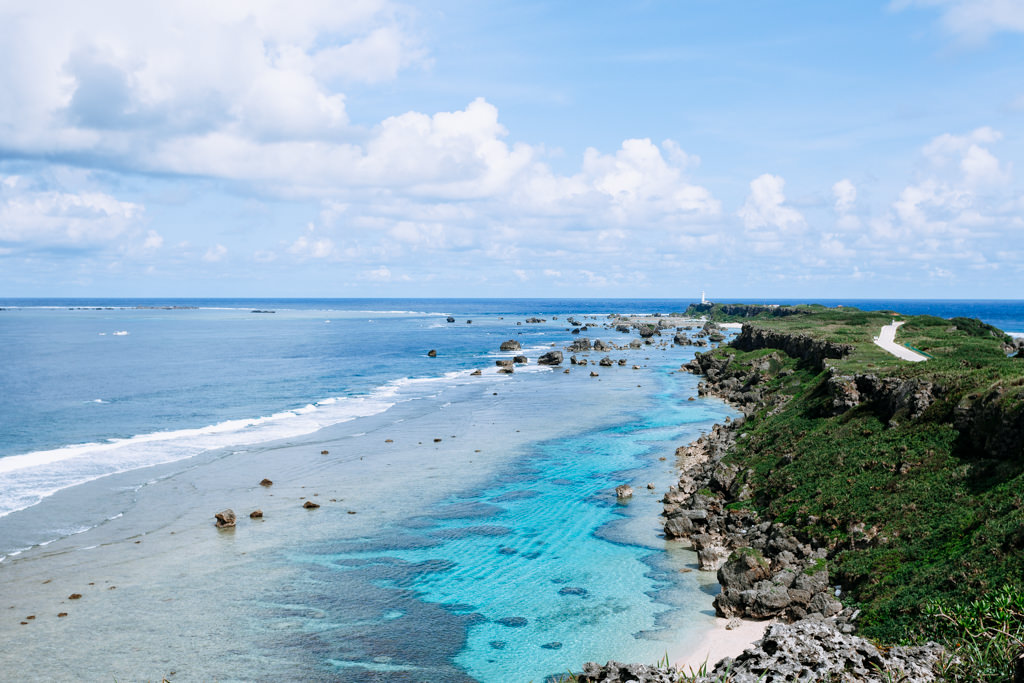 Beautiful coastline of Miyako-jima Island, Okinawa, Japan