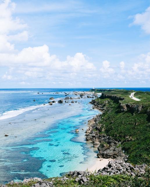Fringing coral reef of Miyako-jima Island, Okinawa