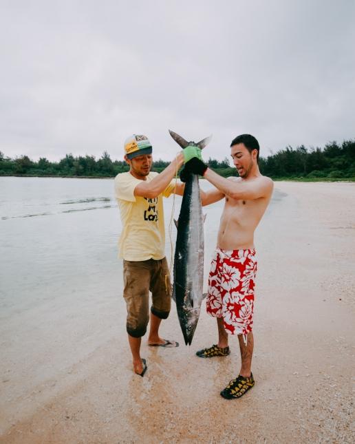Our spearfishing record (1.5m Wahoo), Miyako-jima Island, Okinawa, Japan