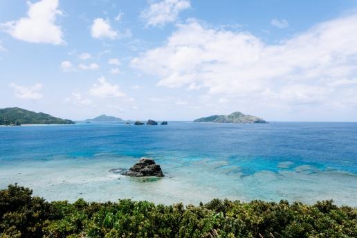 Fringing coral reef of Tropical Japan, Zamami Island, Okinawa