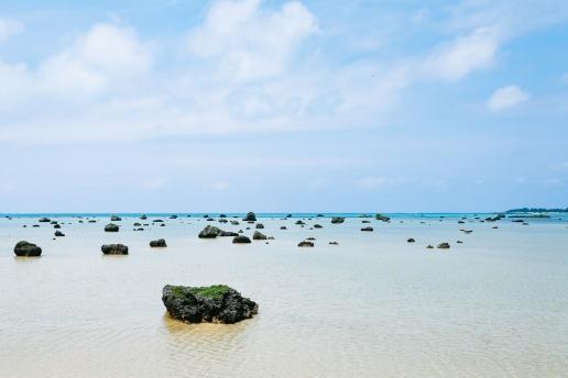Trace of 1771's tsunami, Irabu Island, Okinawa, Japan