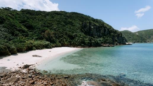 Secluded tropical beach of southern Japan, Zamami Island, Okinawa