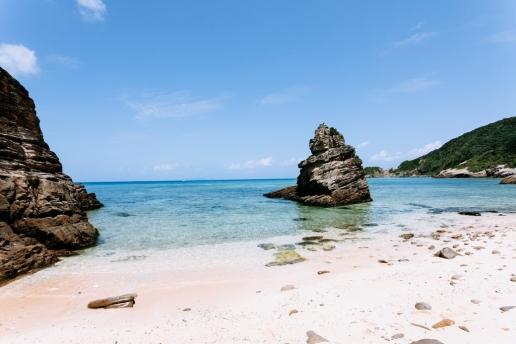 One of many beautiful deserted beaches of southern Japan, Zamami Island, Okinawa