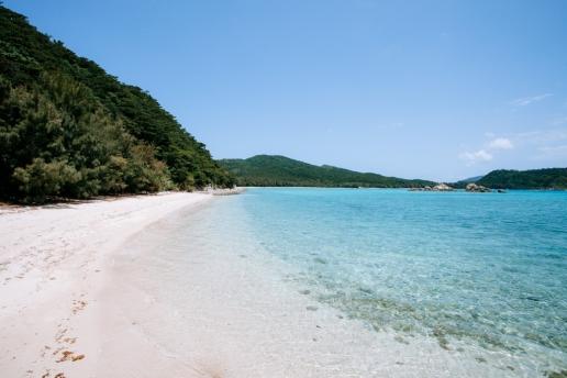 Beautiful deserted beach of southern Japan, Zamami Island, Okinawa