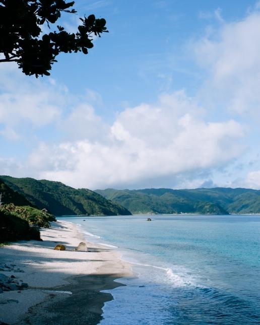 Beach camping, Amami Oshima, Kagoshima, Japan