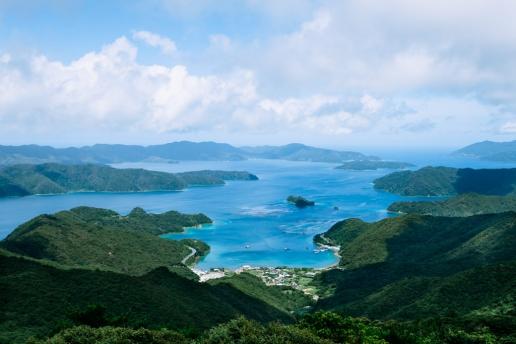 Amami Oshima Island from above, Kagoshima, Japan