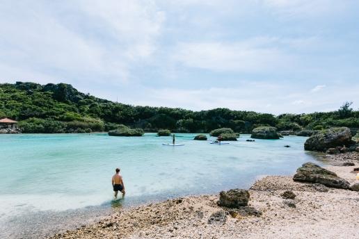 Tropical lagoon of Miyako-jima Island, Okinawa, Japan