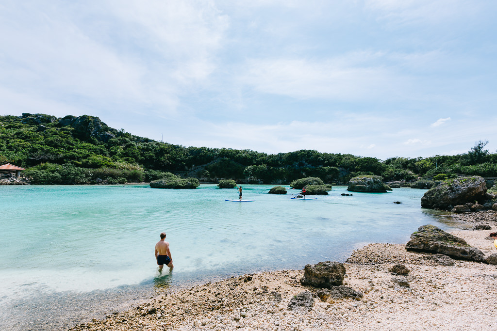 Tropical lagoon of Miyako-jima Island, Okinawa, Japan