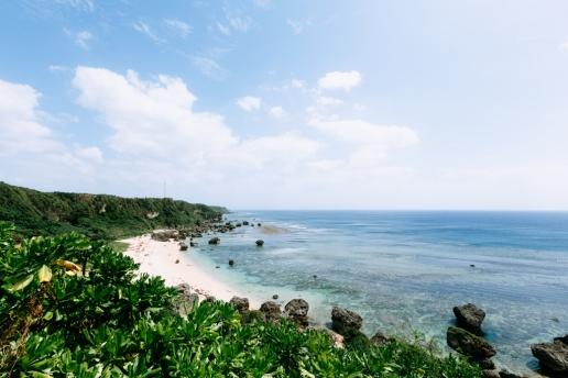 Boraga beach and clear tropical water, Miyakojima Island, Okinawa, Japan