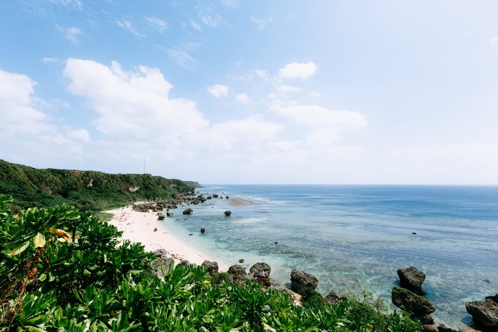 Boraga beach and clear tropical water, Miyakojima Island, Okinawa, Japan