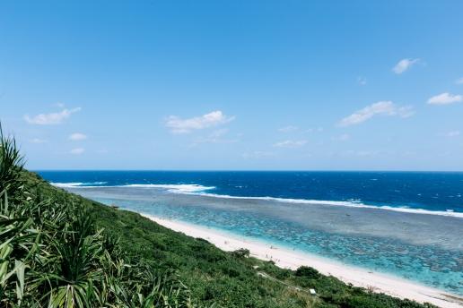 Fringing coral reef of southern Japan, Miyakojima Island, Okinawa