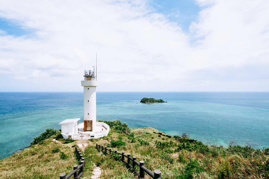 Scenic lighthouse of Northern Ishigaki Island, Okinawa, Japan