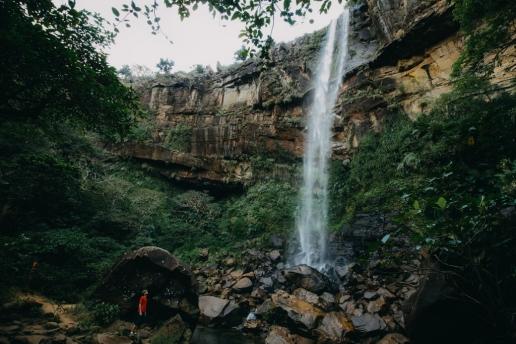 Iriomote Island Pinaisara Falls in tropical jungle, Okinawa, Japan