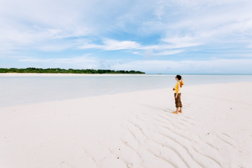 Kondoi beach on Taketomi Island of Yaeyama's, Okinawa, Japan