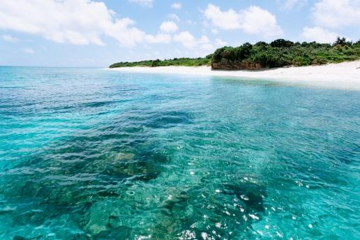 Clear tropical water of Aragusuku, Yaeyama Islands, Japan