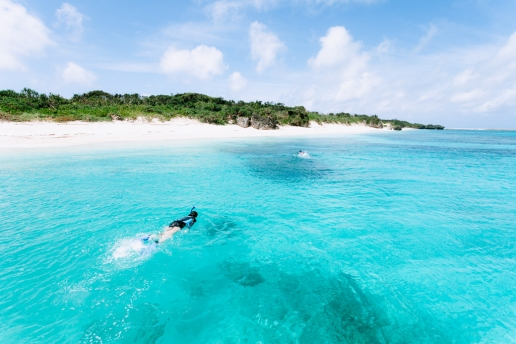 Clearest turquoise water of Tropical Japan, Aragusuku Island