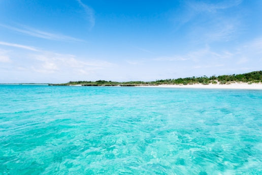 Deserted coral island of tropical Japan, Yaeyama Islands, Okinawa