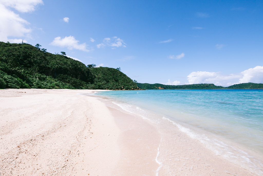 White sand tropical beach of southern Japan, Iriomote Island, Okinawa