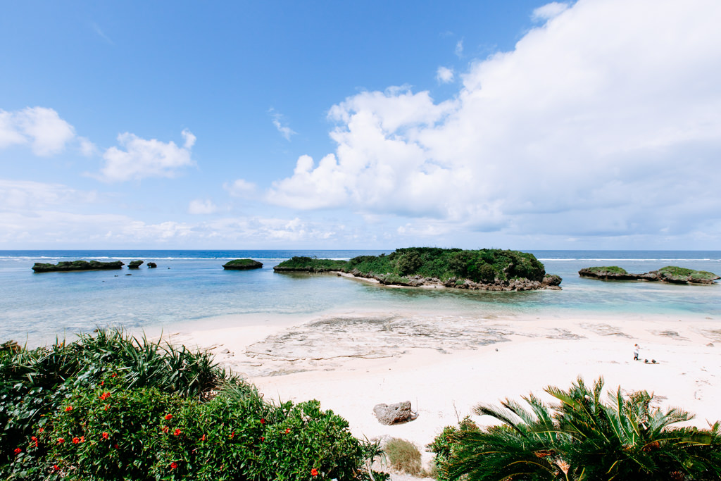 Scenic tropical beach of Iriomote Island, Okinawa, Japan