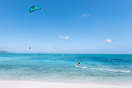 Japan's best kite surfing beach, Kume Island, Okinawa