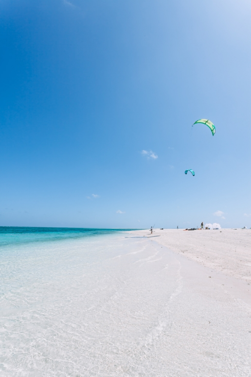 Japan's best beach for kite surfing, Kume Island, Okinawa