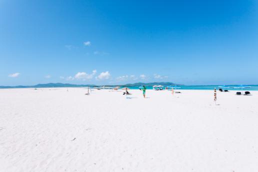 Japan's longest coral sand cay, Kume-jima, Okinawa