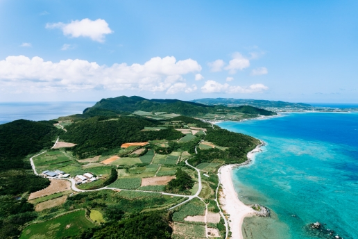 Aerial view of Tropical Japan, Kume Island, Okinawa