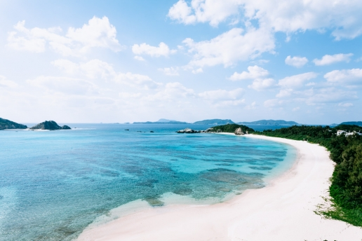 Beautiful beach of southern Japan, Kerama Islands National Park, Okinawa