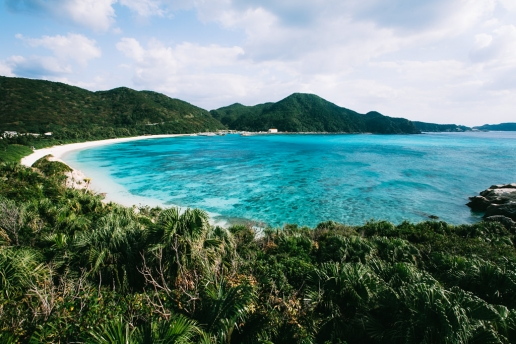 Beautiful beach of Tropical Japan, Tokashiki Island, Okinawa