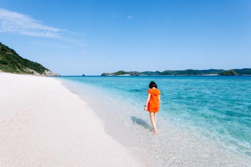 Scenic beach of Akajima, Kerama Islands National Park, Okinawa, Japan