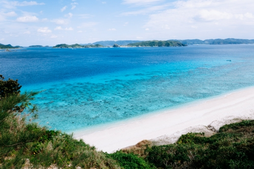 Beautiful coastline of Kerama Islands National Park, Okinawa, Japan
