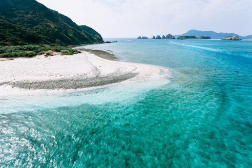 Clear tropical sea of southern Japan, Kerama Islands National Park