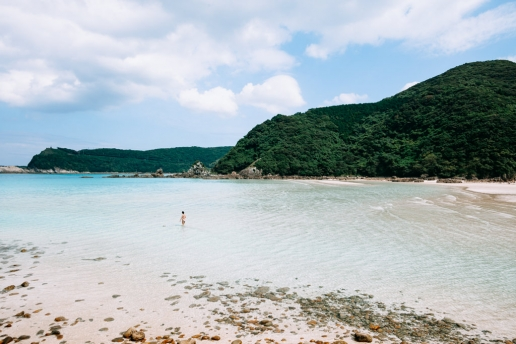 Beautiful beach of Nagasaki, Fukue Island of the Goto Islands