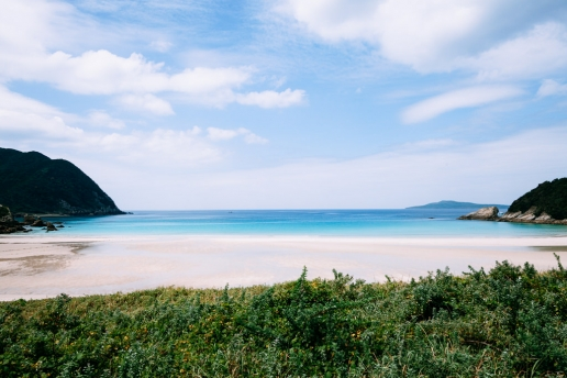 White sand beach of Nagasaki, Fukue-jima of the Goto Islands