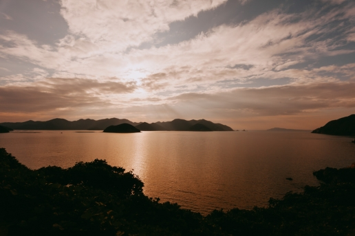 Sunset over Fukue-jima of the Goto Islands, Nagasaki
