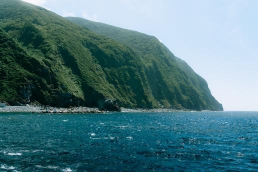 Coastline of Mikura-jima Island, Tokyo, Japan