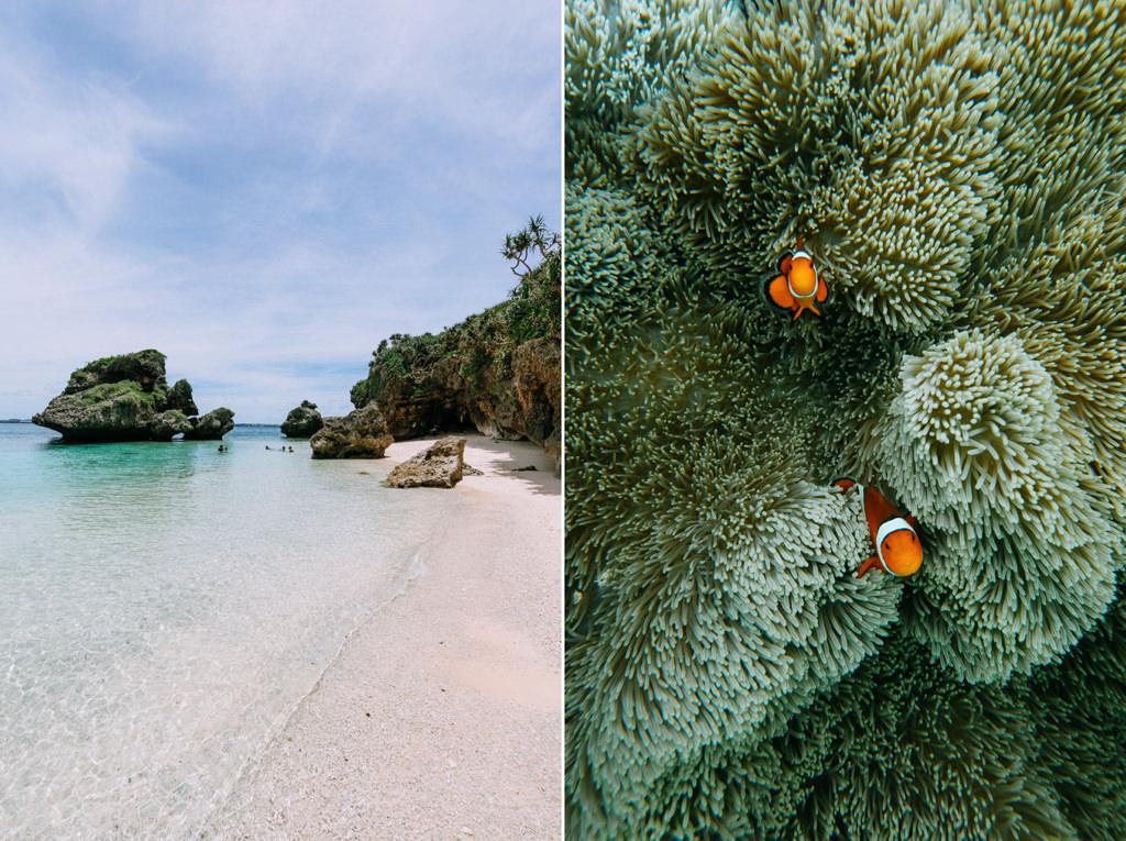 Secluded tropical beach, Irabu Island of the Miyako Islands, Okinawa, Japan