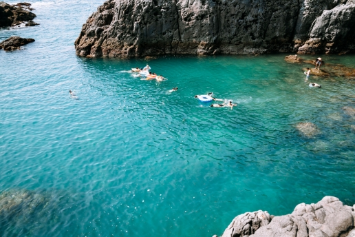 Great snorkeling spot, Kozushima Island of Tokyo