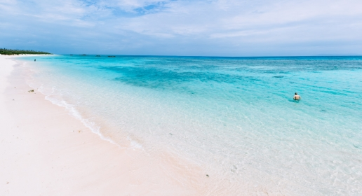 White sand tropical beach of southern Japan, Hateruma Island, Okinawa