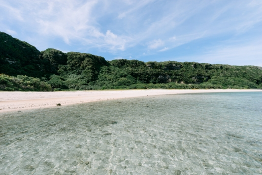 Idyllic tropical beach of Okinoerabujima, Amami Islands, Japan