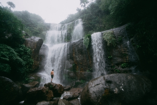 Iriomote jungle waterfall, Yaeyama Islands, Okinawa, Japan