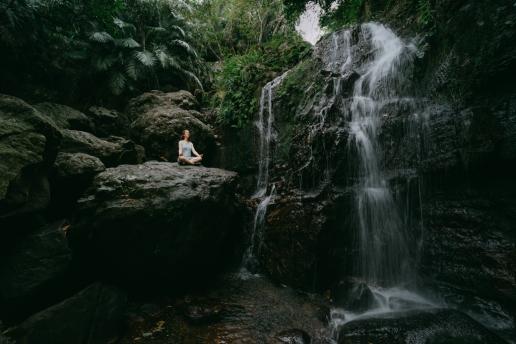 Nameless waterfall of Fukidou river, Ishigaki Island, Japan