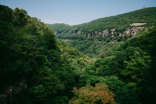 Rugged and lush green landscape of countryside Japan, Shodoshima Island, Seto Inland Sea