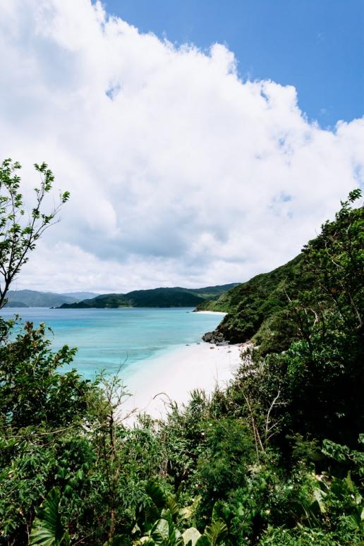 Secluded white sand beaches of Amami Oshima Island, Japan