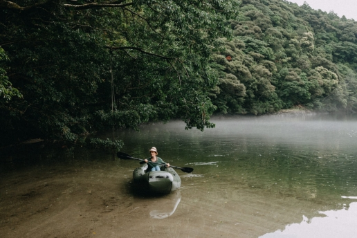 Yakushima river kayaking, Kagoshima, Japan